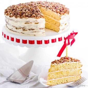 Gluten Free Birthday Cake  Vanilla Gluten Free Keto Birthday Cake Recipe Sugar Free