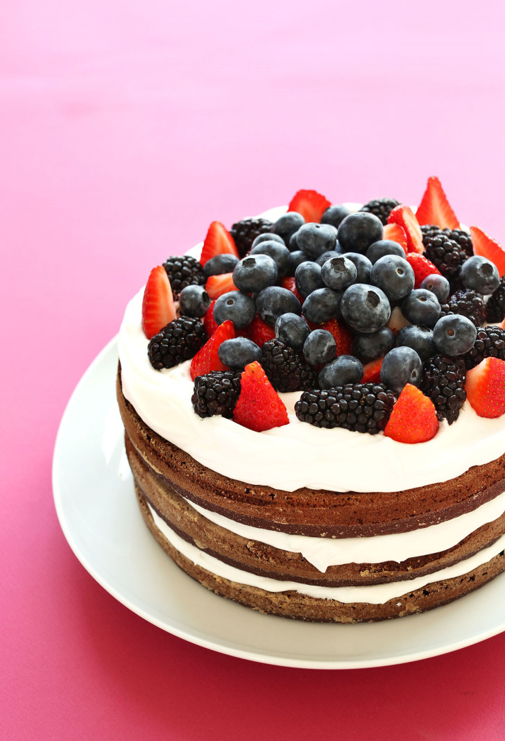 Gluten Free Birthday Cake  AMAZING 1 Bowl Chocolate Cake with Coconut Whipped Cream