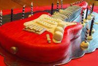Guitar Birthday Cake Unique Electric Guitar Cake