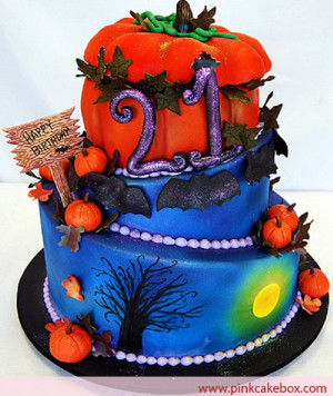 Halloween Birthday Cake  Halloween Birthday Cakes Cathy