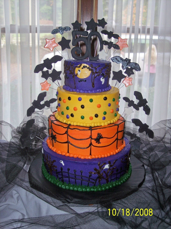 Halloween Birthday Cake  Cakes by Amy