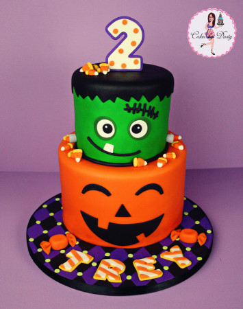 Halloween Birthday Cake  Cakes by Dusty Trey s Halloween Birthday Cake