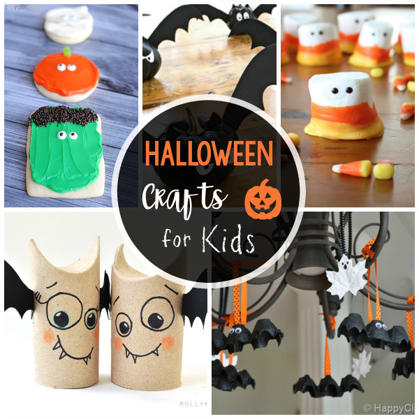 Halloween Craft Ideas For Kids  25 Cute & Easy Halloween Crafts for Kids Crazy Little