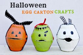 Halloween Craft Ideas For Kids  Halloween Egg Carton Treat Boxes