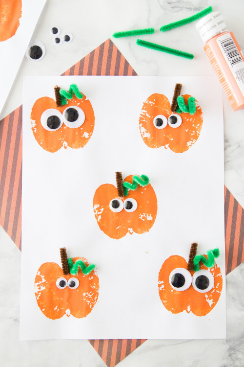 Halloween Craft Ideas For Kids  Apple Stamping Pumpkin Craft Made To Be A Momma