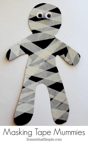 Halloween Craft Ideas For Kids  Halloween Mummy Crafts and Treats The Idea Room