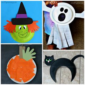 Halloween Craft Ideas For Kids  Paper Plate Halloween Crafts for Kids Crafty Morning