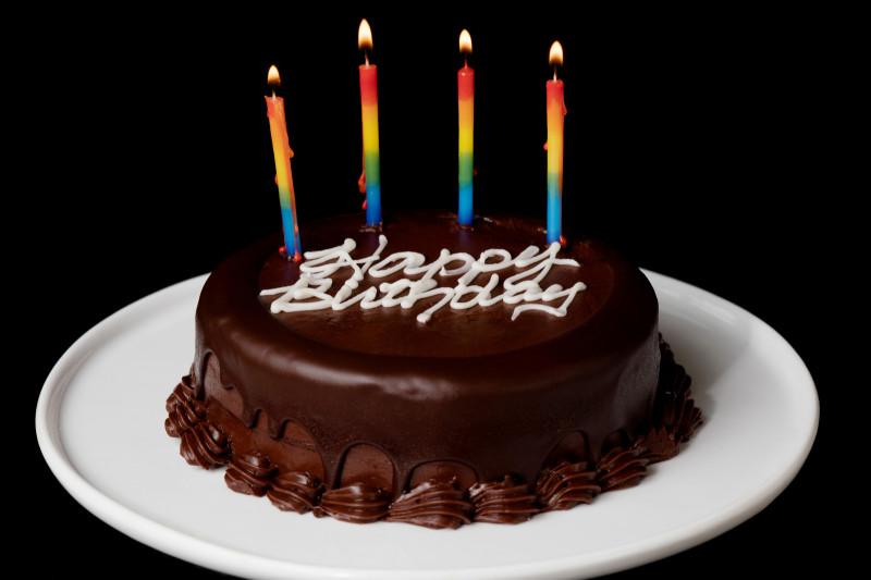 Happy Birthday Cake  2 Layer Chocolate Birthday Cake