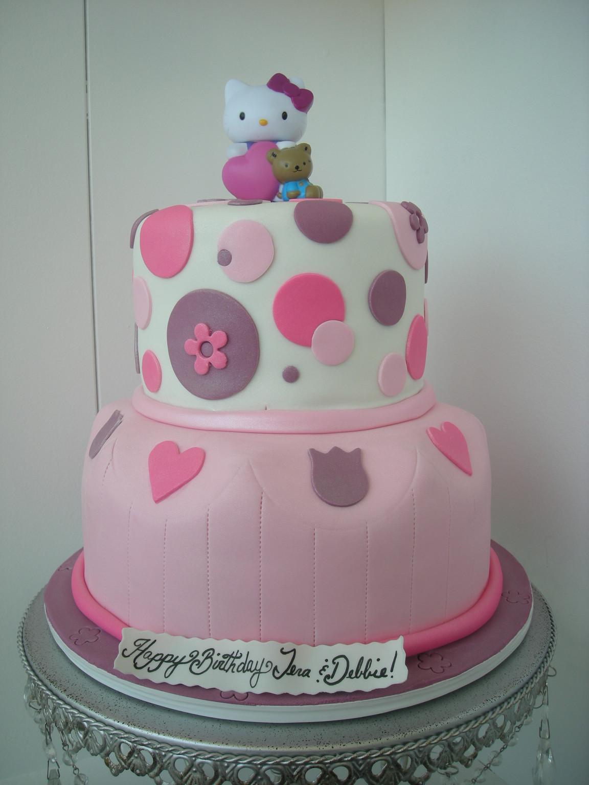 Hello Kitty Birthday Cake  Fondant Hello Kitty Cake