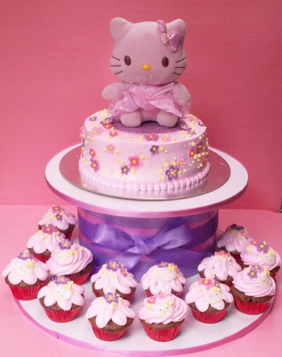Hello Kitty Birthday Cake  PaupiCakes Hello Kitty First Birthday Cake
