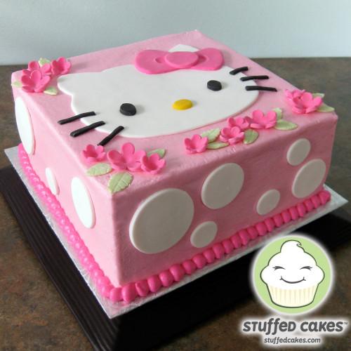 Hello Kitty Birthday Cake  Stuffed Cakes Hello Kitty Cake