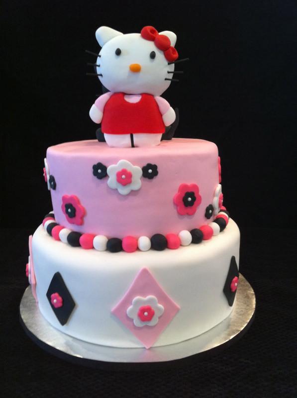 Hello Kitty Birthday Cake  Taryne s Tasty Treats Hello Kitty Tiered Birthday Cake