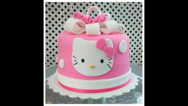 Hello Kitty Birthday Cake  Birthday cake HELLO KITTY slideshow
