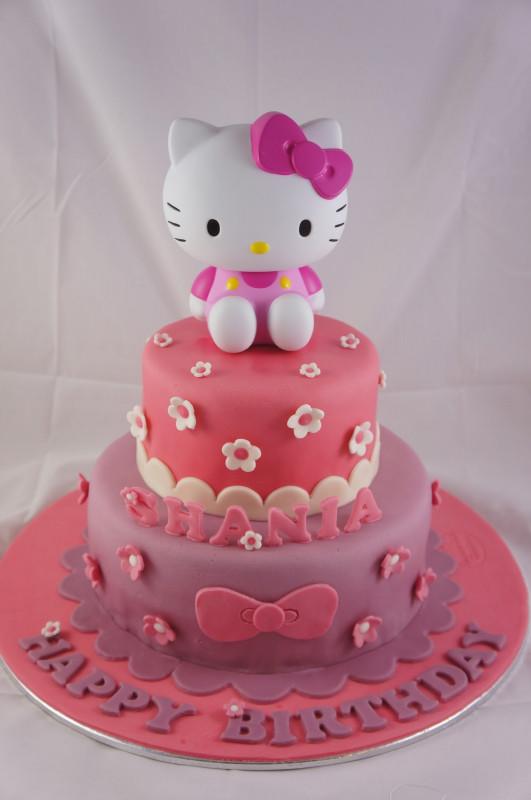 Hello Kitty Birthday Cake  Joyous Cake pany Hello Kitty pink cake