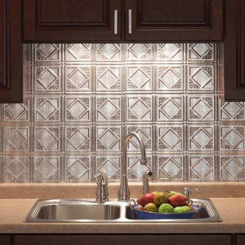 Home Depot Kitchen Backsplash Beautiful 18 In X 24 In Traditional 4 Pvc Decorative Backsplash