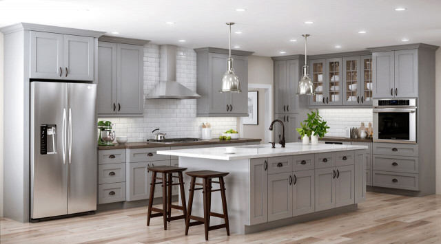 Home Depot Kitchen Design  Tremont Base Cabinets in Pearl Gray – Kitchen – The Home Depot
