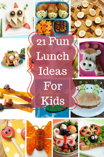 Ideas For Kids  21 Fun Lunch Ideas For Kids