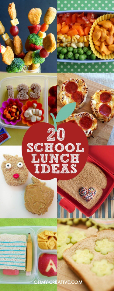Ideas For Kids  20 Creative School Lunch Ideas for Kids Oh My Creative