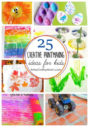 Ideas For Kids  25 Creative Printmaking Ideas for kids Artsy Craftsy Mom