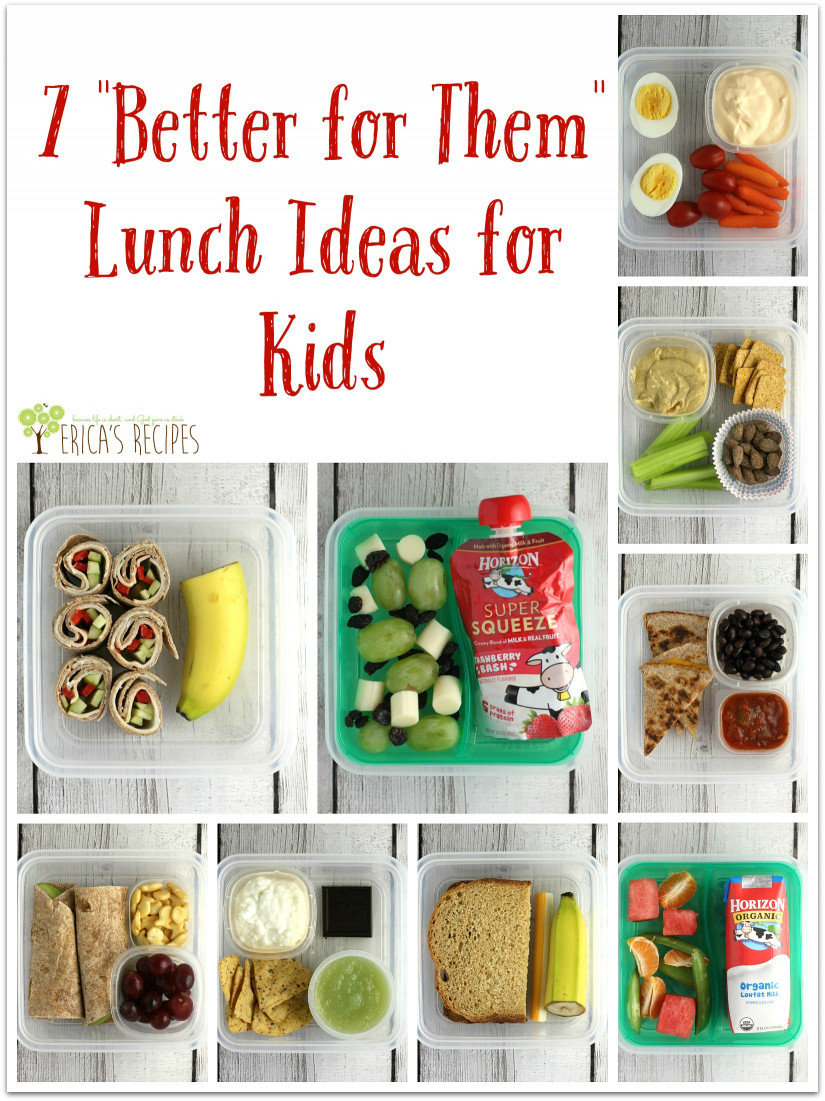 "Ideas For Kids  7 ""Better for Them"" Lunch Ideas for Kids Erica s Recipes"