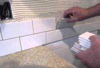 Installing Kitchen Backsplash New How to Install A Simple Subway Tile Kitchen Backsplash