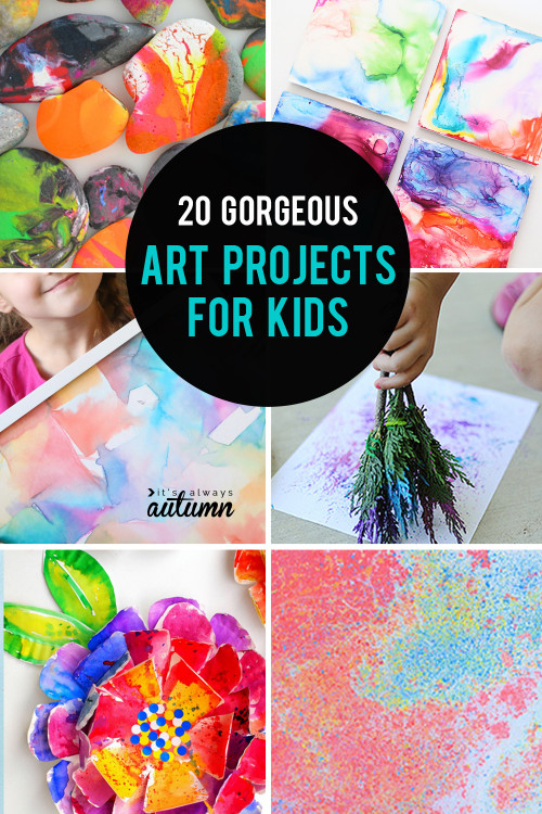 Kids Art Projects  20 kid art projects pretty enough to frame It s Always