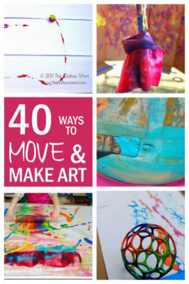 Kids Art Projects  40 Big Art Fun Art Projects for Kids hands on as we grow