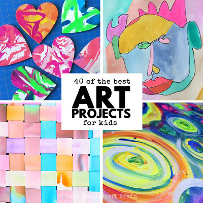 Kids Art Projects  40 of the Best Art Projects for Kids Left Brain Craft Brain