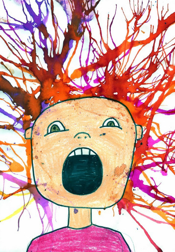 Kids Art Projects  Scream Blow Art Project · Art Projects for Kids