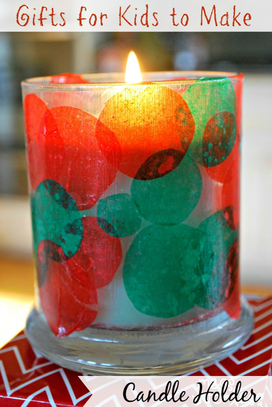 Kids Christmas Craft Gifts  Kids Christmas Craft Candle Holder Mess for Less