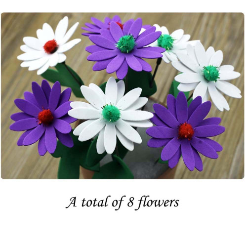 Kids Craft Toys  Handmade EVA Flower Pot Educational Toy Kids DIY Craft