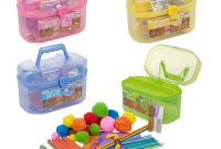 Kids Craft toys Elegant 127 Piece Children S Arts & Craft Set Case Carry Handle