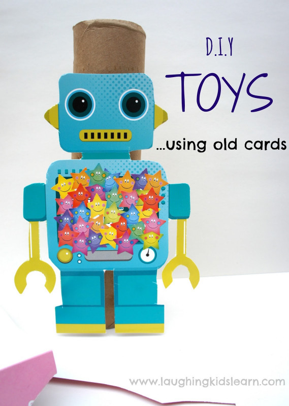 Kids Craft Toys  D I Y Toys using old cards Laughing Kids Learn