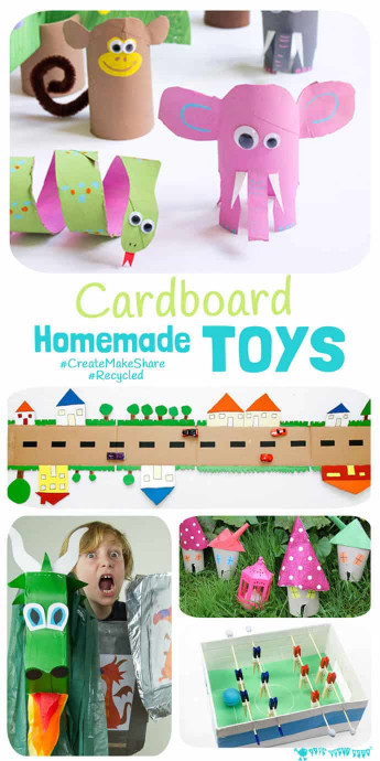 Kids Craft Toys  Cardboard Homemade Toys Kids Craft Room