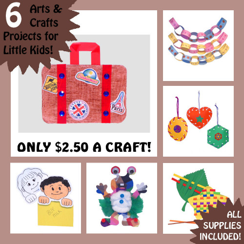 Kids Craft Toys  6 CRAFT KITS FOR 3 7 YEAR OLD KIDS EASY CRAFTS THAT