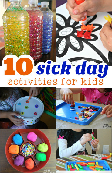 Kids- Creative Activities At Home  10 Sick Day Activities Mess for Less