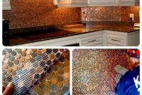 Kitchen Backsplash Diy Fresh Make A Penny Backsplash for An Expensive Look