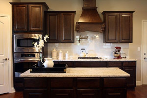 Kitchen Backsplash Ideas For Dark Cabinets  Dark cabinets white subway tile backsplash and