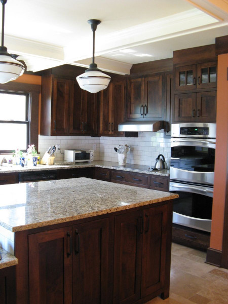 Kitchen Backsplash Ideas For Dark Cabinets  Kitchen Cabinets with white backsplash