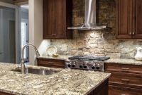 Kitchen Backsplash Ideas for Dark Cabinets Fresh Custom Wood Cabinets and Gray Stone Countertops are top