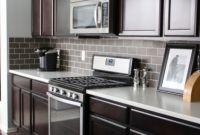 Kitchen Backsplash Ideas for Dark Cabinets Fresh the Yellow Cape Cod Dark Tile Light Grout Kitchen Backsplash