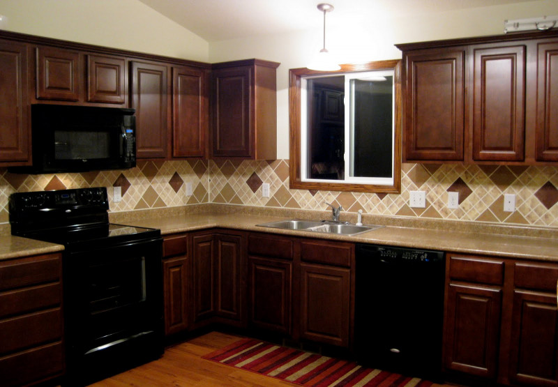 Kitchen Backsplash Ideas For Dark Cabinets  Kitchen Backsplash Ideas For Dark Cabinets Pattern — 3