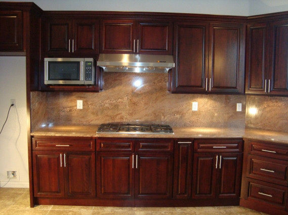 Kitchen Backsplash Ideas For Dark Cabinets  Refinish Kitchen Cabinets Kitchen Backsplash Ideas For