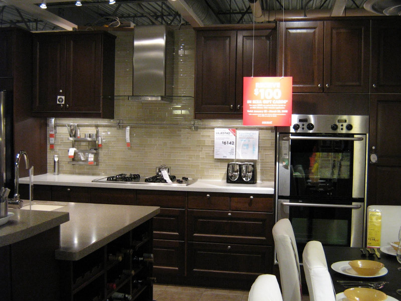 Kitchen Backsplash Ideas For Dark Cabinets  of IKEA Kitchens