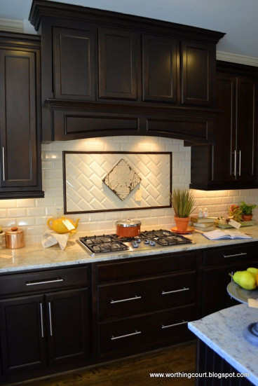 Kitchen Backsplash Ideas For Dark Cabinets  Best 25 Dark wood cabinets ideas on Pinterest