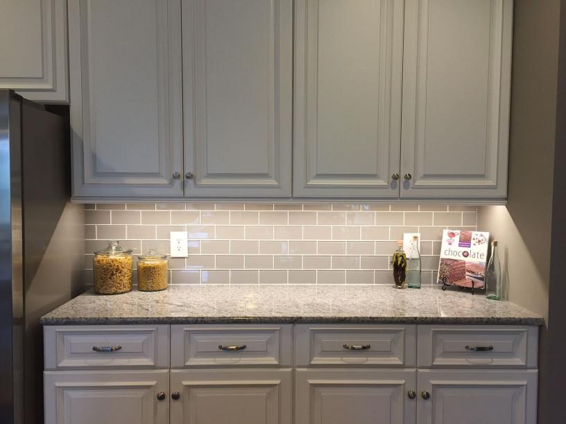 Kitchen Backsplash Subway Tile  Smoke Glass Subway Tile Backsplashes