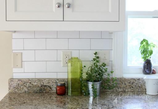 Kitchen Backsplash Subway Tile  White Subway Tile Temporary Backsplash The Full Tutorial