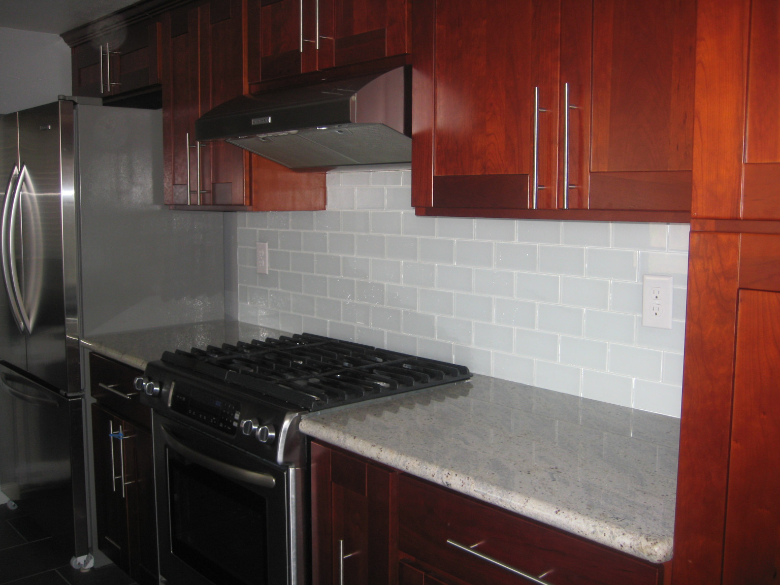 Kitchen Backsplash Tiles  White Glass Subway Tile Subway Tile Outlet