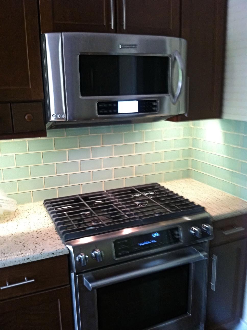 Kitchen Backsplashes Subway Tile  Surf Glass Subway Tile Subway Tile Outlet