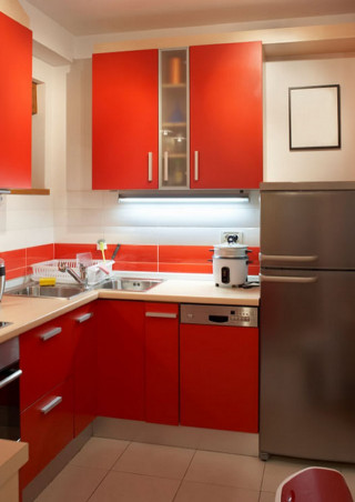 Kitchen Color Ideas for Small Kitchens Lovely Bold Color Small Modern Kitchens Ideas
